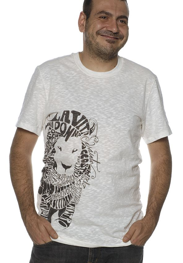 T shirt uomo calligramma made in italy!!