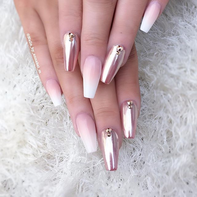Ombré and rose gold chrome✨💎✨