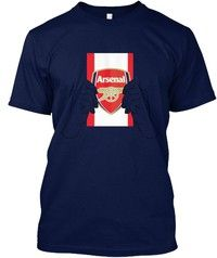 Wish | Arsenal Football Team Flag Mens Premiu Hanes Tagless Tee T-Shirt