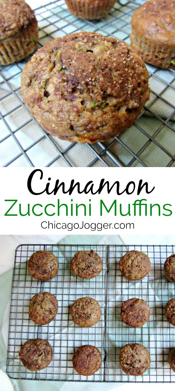 Cinnamon Zucchini Muffins - This breakfast or snack recipe for Cinnamon Zucchini Muffins is the best way to use up summer produce. | Chicago Jogger