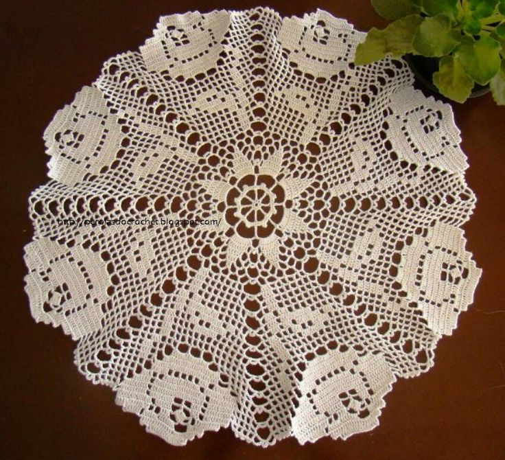 Page 1 of 2 Rose Doily