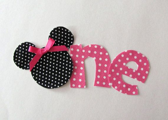 Minnie Mouse One- could be done lots of other ways, replacing the O with a flower, lady bug, etc.