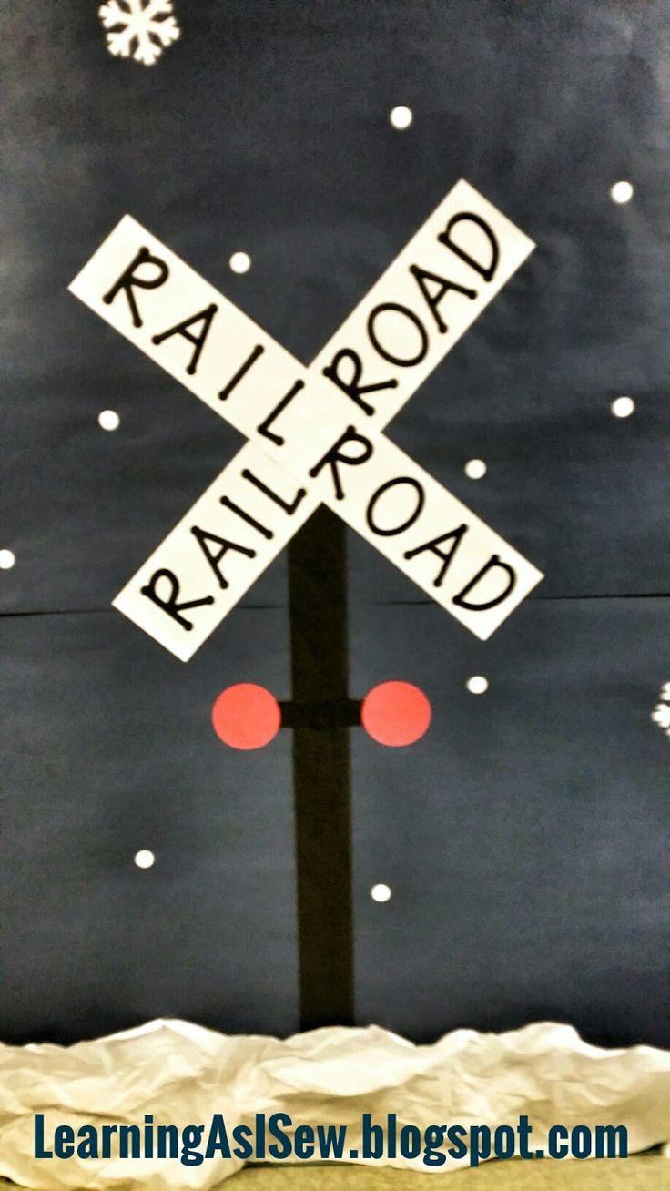 Polar Express Decor - railroad crossing