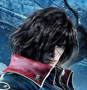 Space Pirate Captain Harlock Cosplay | Space Pirate Captain Harlock Movie -- Captain Harlock Cosplay Wig ...