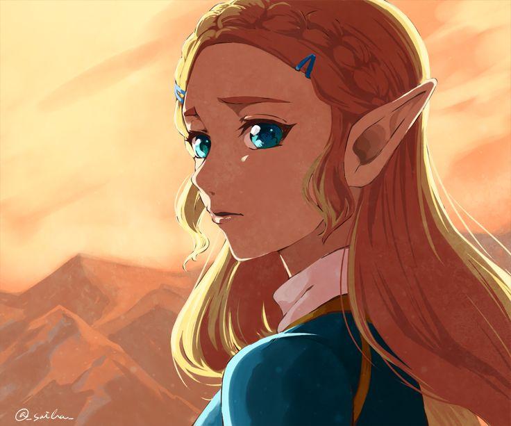 Computerspiele The Legend of Zelda: Breath of the Wild Zelda Pointed Ears Blonde Aqua Eyes Wallpaper – Caramelmel