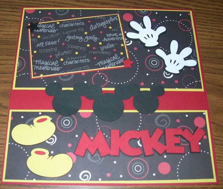 mickey layout with cricut