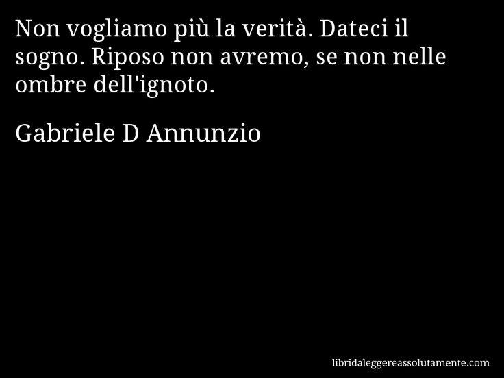 Cartolina con aforisma di Gabriele D Annunzio.