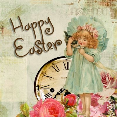Easter Free Digital Images Vintage, GIF and Clip Art - Artsy Bee Digital Images