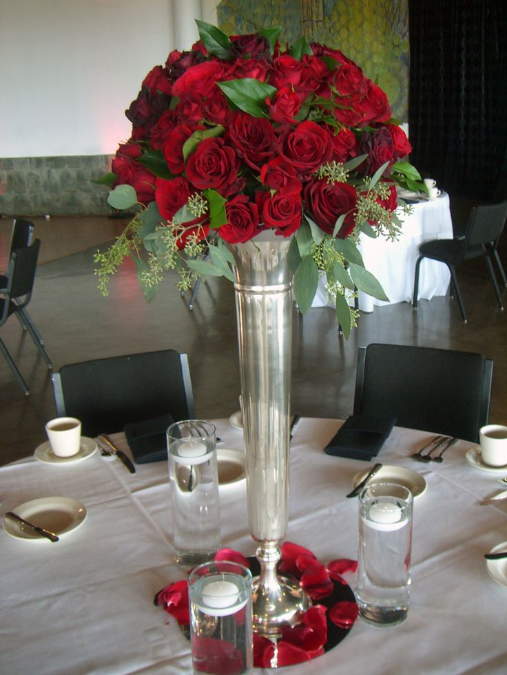 1000 ideas about trumpet vase centerpiece on pinterest for Center arrangements for weddings