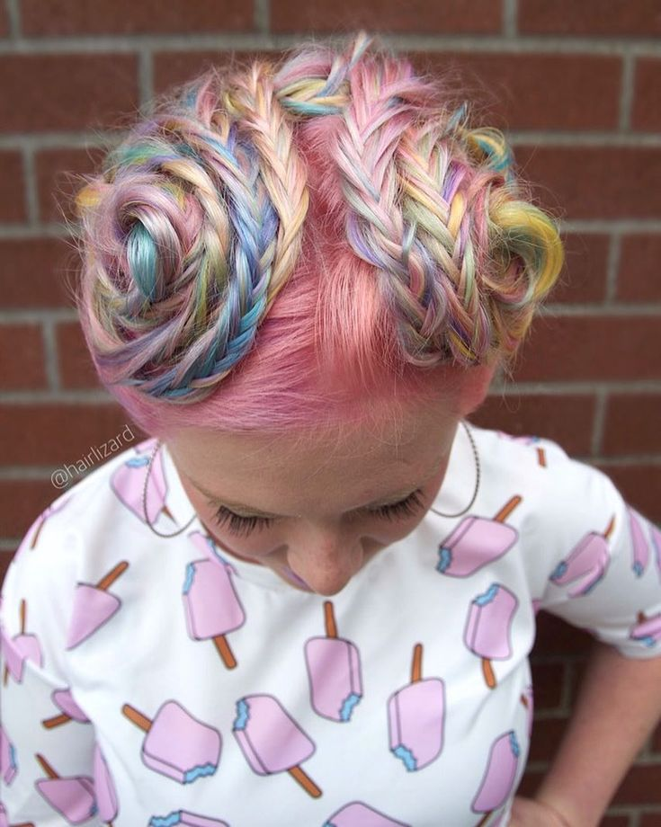 "763 Me gusta, 41 comentarios - Seattle, WA Hairstylist (@hairlizard) en Instagram: ""One of my favorite creations of candy swirl colors #behindthechair #btconeshot_pastel17…"""
