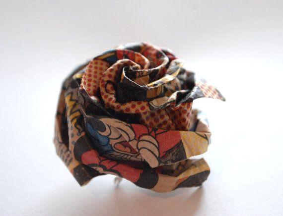 Rose Brooch Flower Brooch Origami Brooch Modern by MAGcraftsy, $13.99