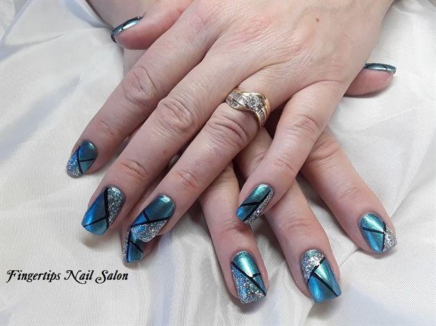 Nail Art From The Nails Magazine Nail Art Gallery Polish Hand Painted Nail Art Design New Year Nails Geometric Nail Art Geometric Nail Nails