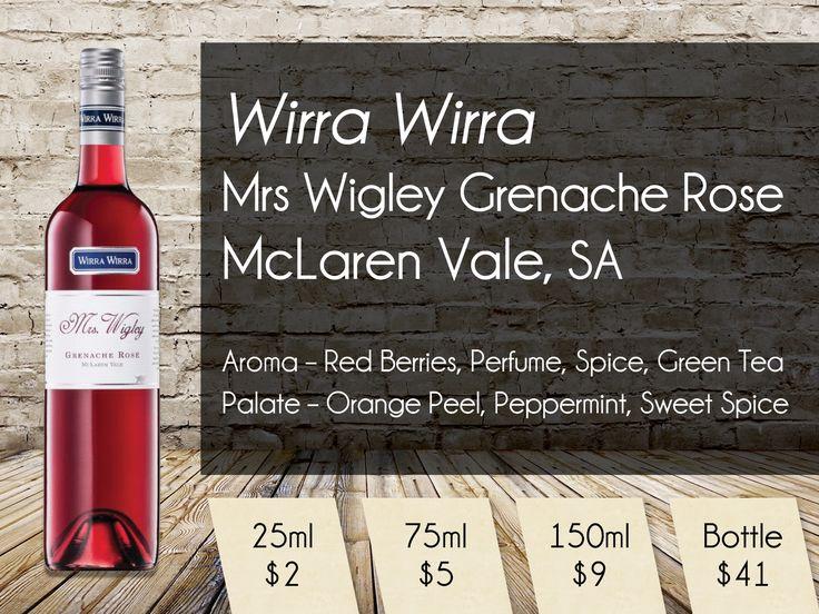 Wirra Wirra Mrs Wigley Grenache Rose McLaren Vale