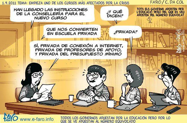 Viñetas y chistes gráficos sobre educación | Educación y cine