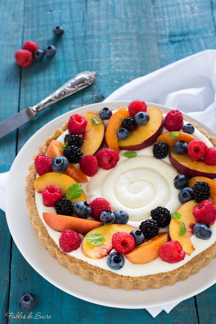 Crostata senza cottura alla frutta 2