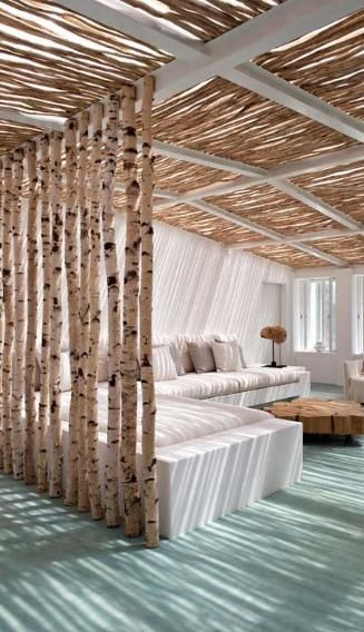Interior designer Vera Iachia concocted  this dreamy room divider idea. Perhaps a starting point for a similar project in your own home?