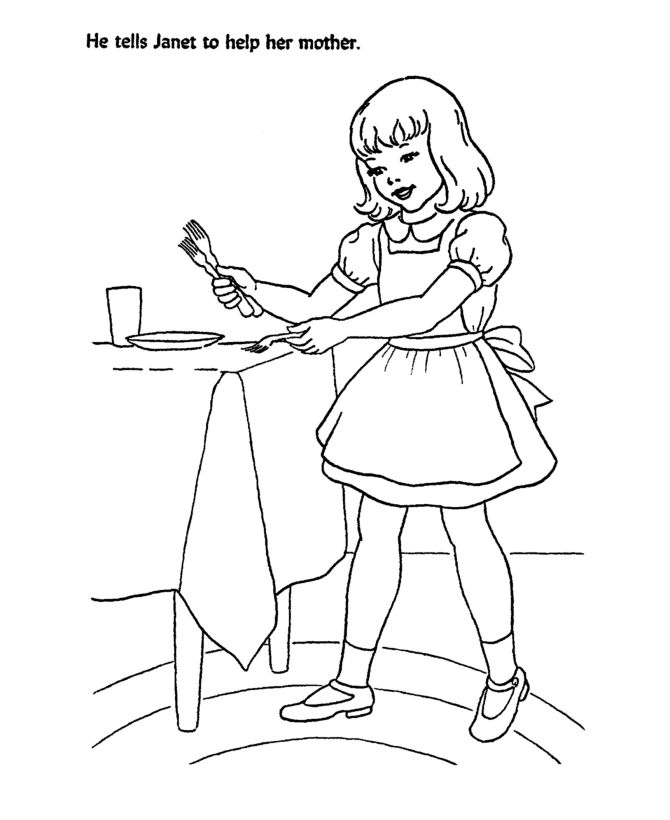 Girl helping | Coloring Sheets | Pinterest | Mothers ...