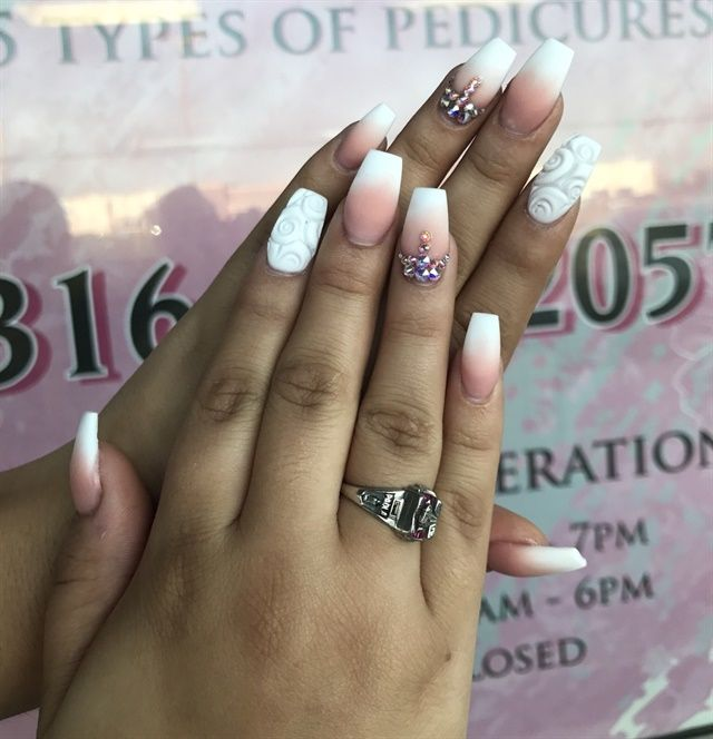 Ombre Nail Art: 251 Best Ombre Nail Art Images On Pinterest