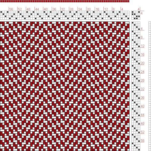 Hand Weaving Draft: 20111, 2500 Armature - Intreccio Per Tessuti Di Lana, Cotone, Rayon, Seta - Eugenio Poma, 4S, 4T - Handweaving.net Hand ...