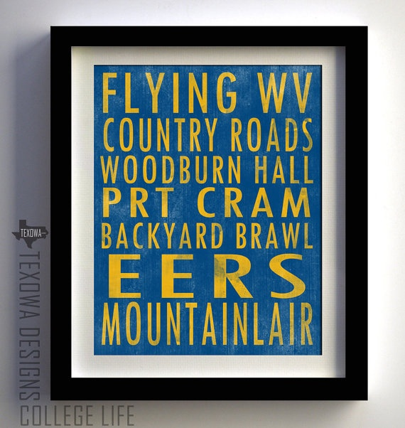 A good gift for someone I know!Morgantown West Virginia Subway Scroll Art Print by texowadesigns