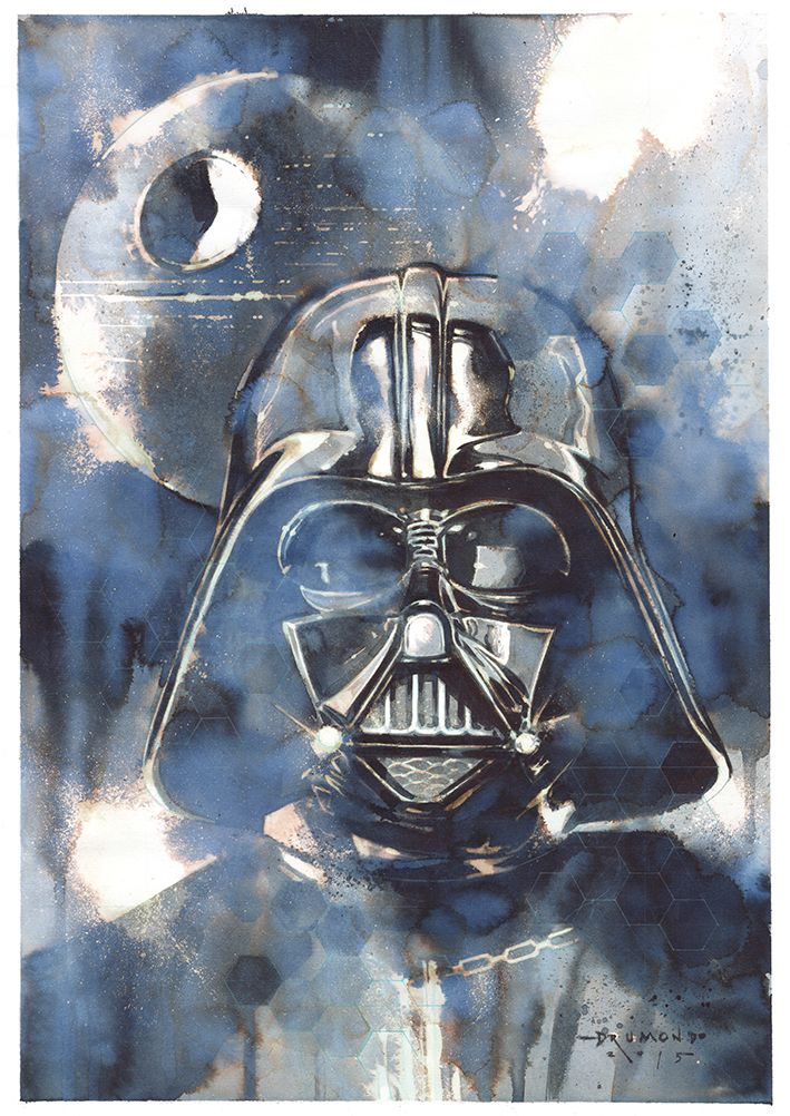 "pixalry: ""  Star Wars Illustrations - Created by Drumond Art  """