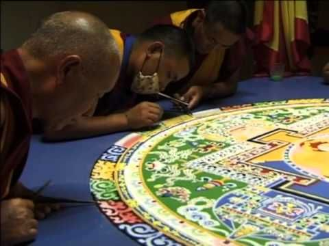 Time Lapse Making of a Mandala: The Crow Collection of Asian Art - YouTube