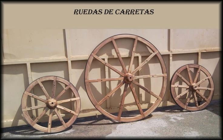 Ruedas de carretas decorativas de varios tama o carretas - Ruedas de carretilla ...