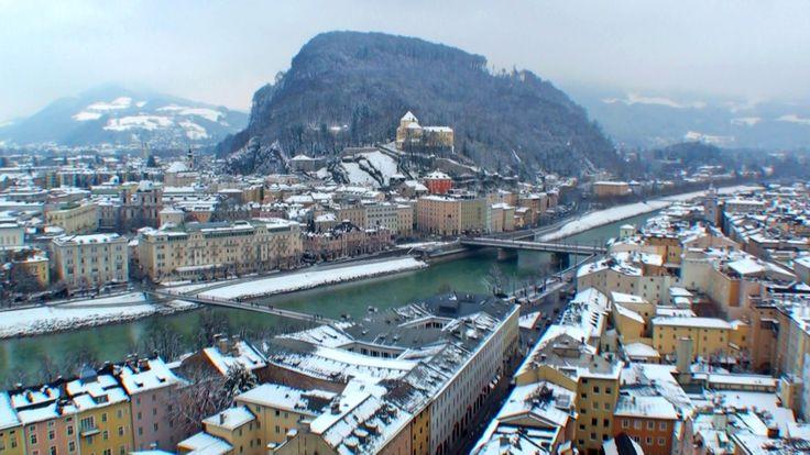 SALZBURG - Austria / Turismo Salzburgo. Vistas ciudad nevada - Tourismus...