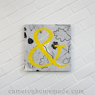 Ampersand wall art - in gray & yellow - all the rage, right?