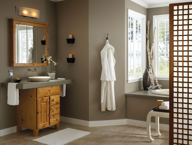 Photo Gallery On Website Great use of vertical space in a small bathroom Possibly for master bathroom shelves instead of medicine cabinet