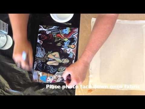 This video shows you how to transfer photos to fabric, canvas, metal, wood, etc...using Powerprint - Powertex Australia - YouTube