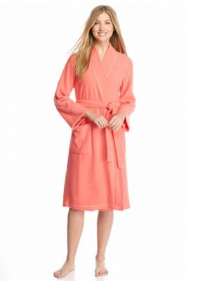 N Natori Coral Island Brushed Terry Robe - PC4016