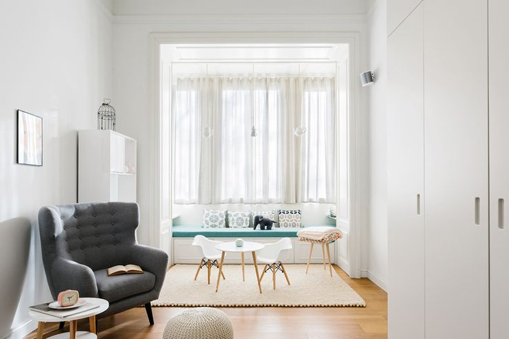 Located in a nice residential area in Milan, the apartment is part of an elegant and well designed 1920's complex.  #nomadearchitettura #design #interiors #interiordesign #italiandesign #italianstyle #luxury #milaninteriors #decor #marbles #glasslights #pendantlight #lightgrey #luxurylife #kidsdesign #babyrooms #luxurylife #kidrooms #SimoneFuriosi