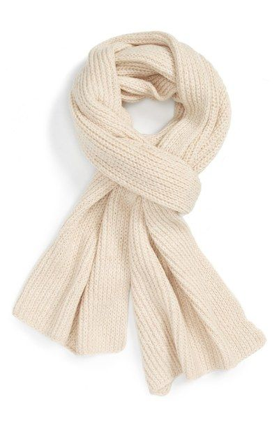 Cream rib knit scarf: http://www.stylemepretty.com/living/2016/10/20/fashion-essentials-to-battle-the-cold-weather-stylishly/