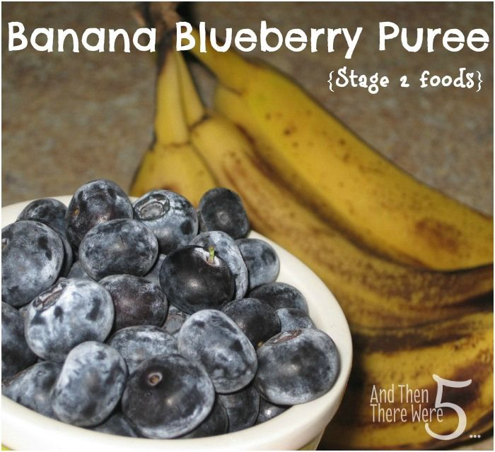 Baby Foods 101 :: Banana Blueberry Puree #recipe {Stage 2}