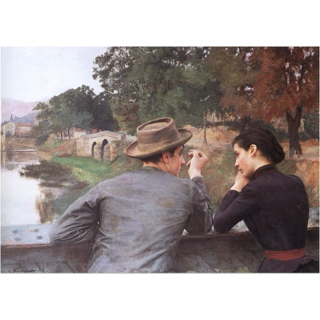 Someday soon, I'll have you front of me <3: Emile Friant, De Nancy, Lovers, Emil Friant, The Museum, Lesamoureux, Of Beauxart, Painting, Beauxart Of