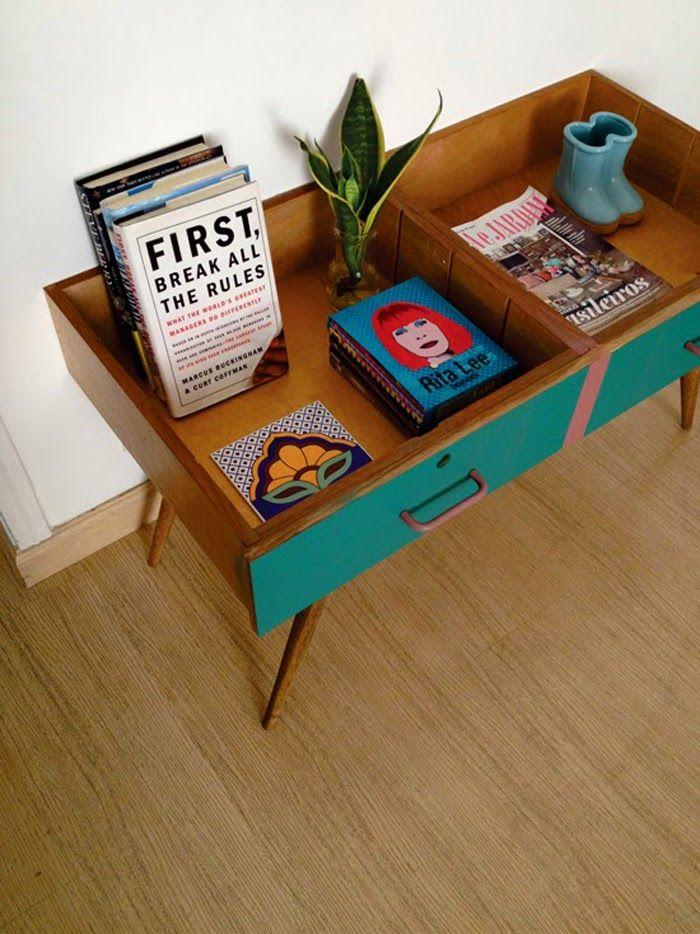 Poppytalk: 7 DIY Projects of the Week - Drawer Turn Coffee Table by Decorviva