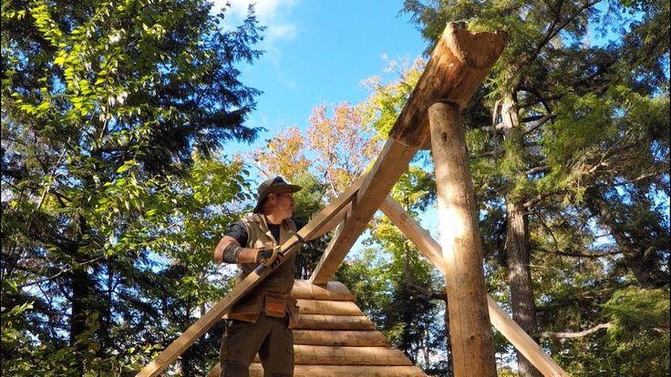 Log Cabin Construction: Log Gable Ends, Center Column and Ridge Pole