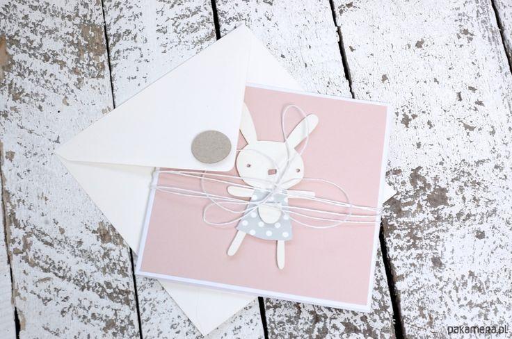 scrapbooking - kartki okolicznościowe-Kartka, zaproszenie  na chrzest, urodziny