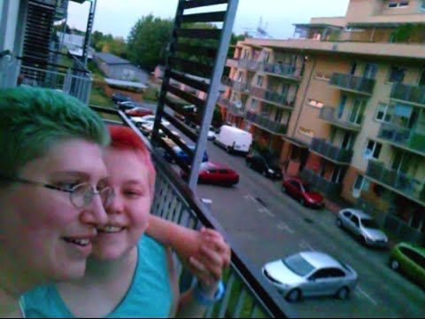 Rainbows (25.08. and 19.09.) and Kitty - https://www.youtube.com/watch?v=SkiEI1zUpUc - We look at shiny #rainbows from our #balcony, on two separate days about a month apart. As a bonus you get to see our #kitty! Whose name is Kitty. :D #rainbow #lgbt #lesbians #lesbian #lesbiancouple #gay #colorful hair #pinkhair #bluehair #tealhair #shorthair #cat #cats #sky #youtube #vlog #vlogs