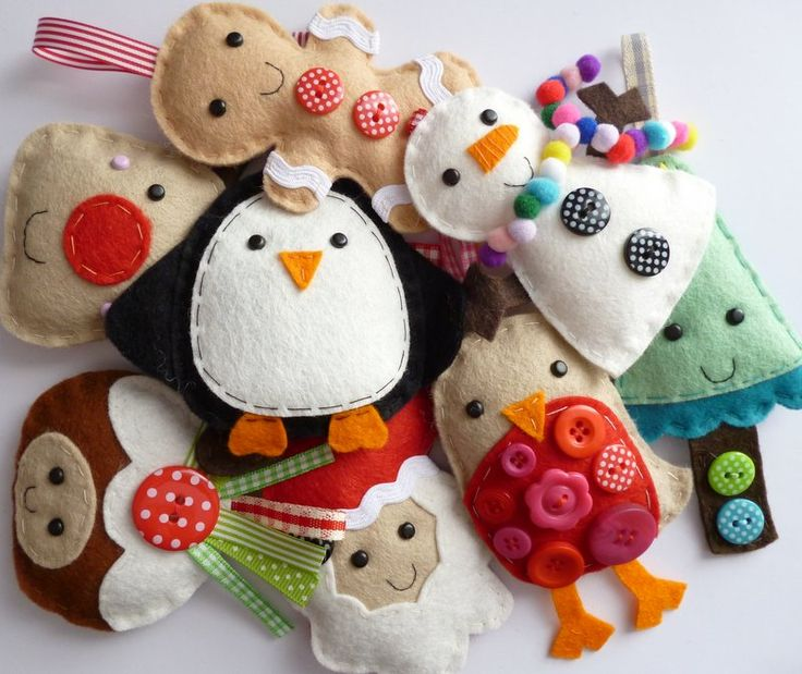 cute christmas decor | ... hand sewn christmas decorations to add extra cute to your christmas 8