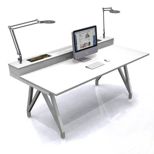 Eyhov Rise Single Desk & Scale 1:1 Desks   YLiving