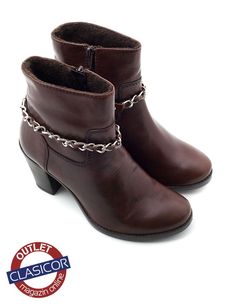 Botine din piele naturala, dama – 908-1 maro | Pantofi piele online / outlet incaltaminte piele | Clasicor