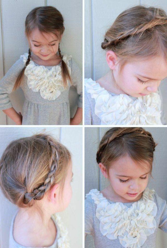 coiffures avec des tresses pour petite fille