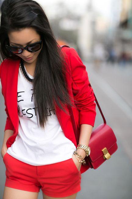 Fire engine red :: Crimson blazer