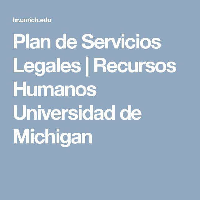 Plan de Servicios Legales |  Recursos Humanos Universidad de Michigan