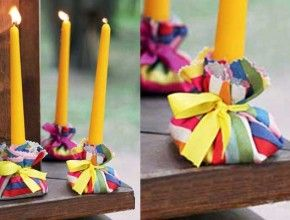 Home decor: how to make a candle holder