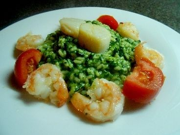 Spinazie Risotto Met Gamba's recept | Smulweb.nl