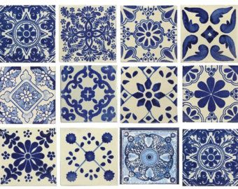 spanish blue and white tile