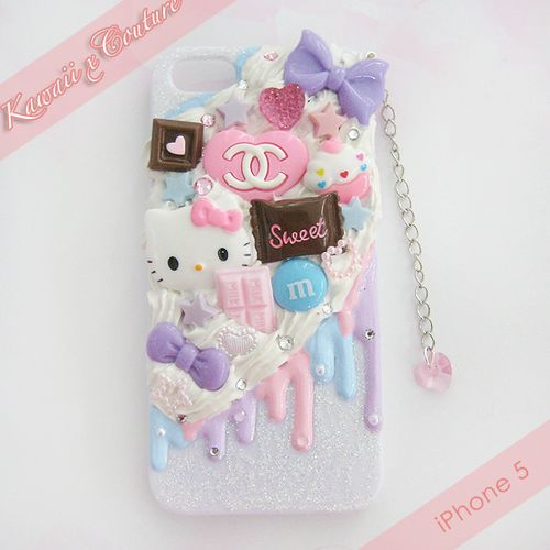 HK Sweets Whipped Cream & Frosting Decoden Case | $35.00    SHOP: Kawaii x Couture DecodenHandmade decoden phone cases, jewelry, & accessories ♡